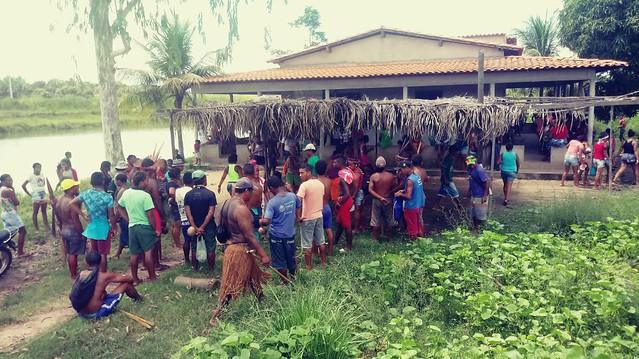 Reunião dos indígenas gamelas no Maranhão após ataque de pistoleiros em 2017 - Créditos: Cimi/Divulgação