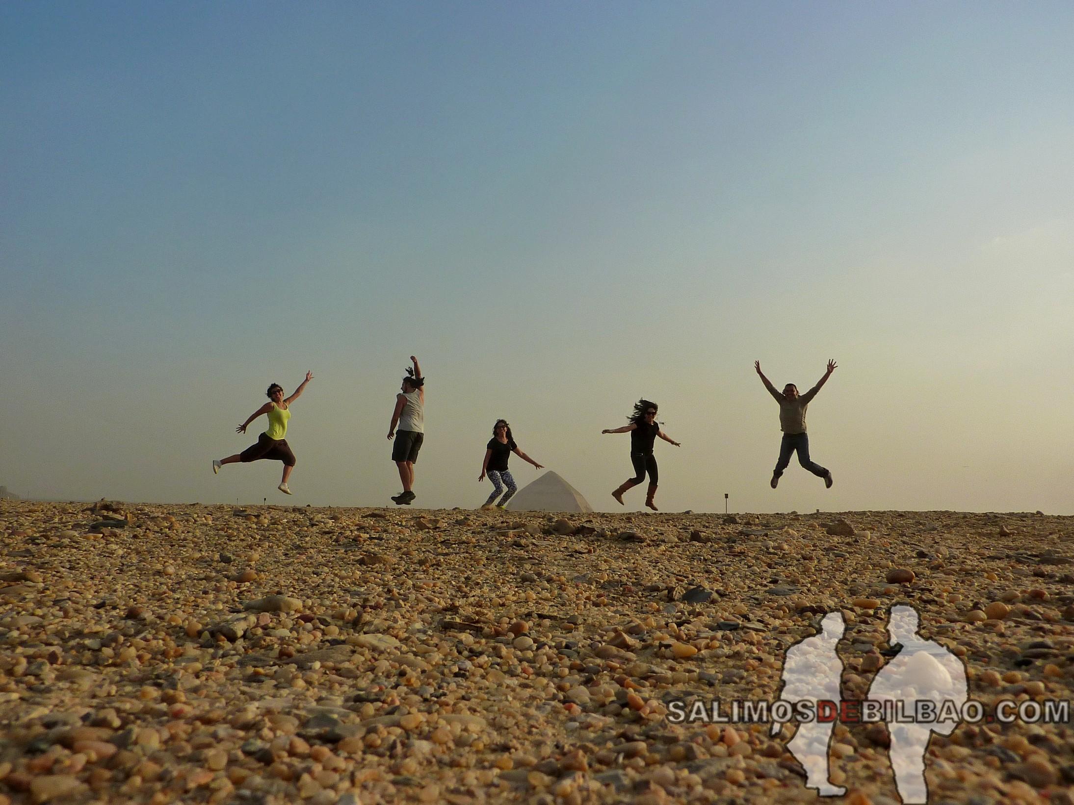 0236. Grupo saltando, Pirámide inclinada de Saqqara