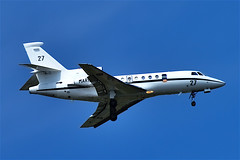 Falcon 900 MPA of the French Marine landing at Lann Bihoué