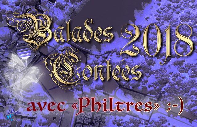 """2018 - avec """"Philtres""""… ;-) - Balades contées"""