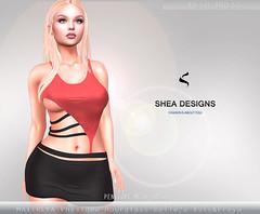 SD Penelope Mesh Dress -   Red&Black