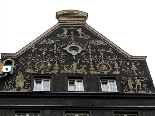 decorated facade in Gdansk