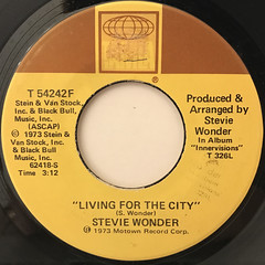 STEVIE WONDER:LIVING FOR THE CITY(LABEL SIDE-A)