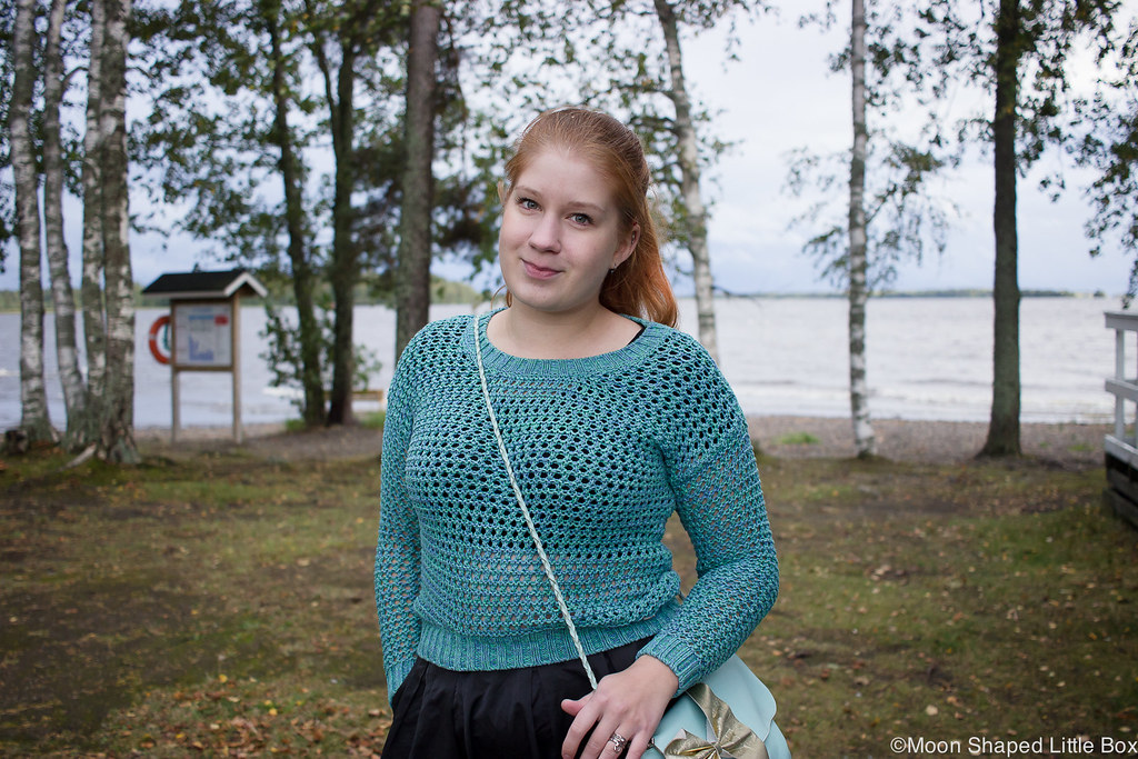 Numph neulepaita, minihame, Parikan kengät, Minna Parikka Blanche- kengät, tyylibloggaaja Joensuu, Joensuu, Koivuniemi