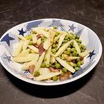 180804 煙燻培根炒茭白與豌豆-01