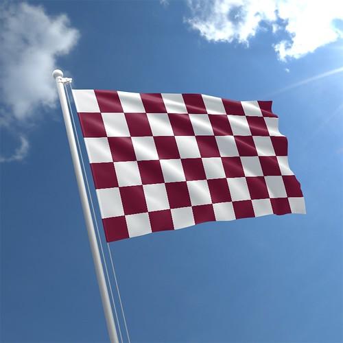 maroon-_-white-check-flag-std