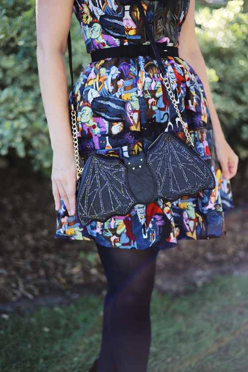 Retrolicious Unhappy Hour Dress Betsey Johnson Going Batty Crossbody