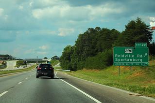 I-26 North - Exit 22 - SC296