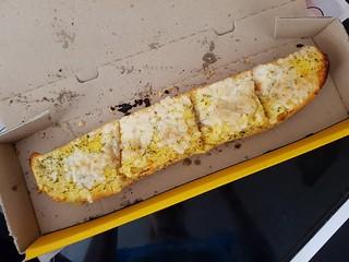 Vegan Cheesy Bread from Dominos