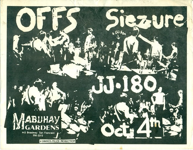 OFF'S, SIEZURE, JJ-180 AT THE MABUHAY, SAN FRANCISCO, CA 1979