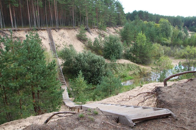 Männiku krossirada liivakarjääris / Männiku motorcycle track in sand pit, Estonia