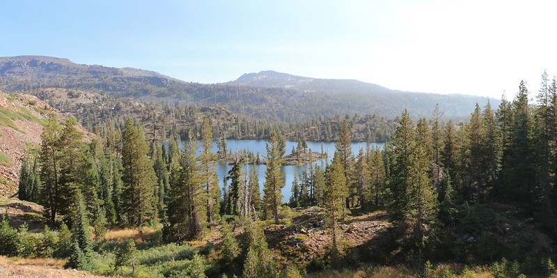 Looking back at Susie Lake as we climb southward on the Pacific Crest Trail