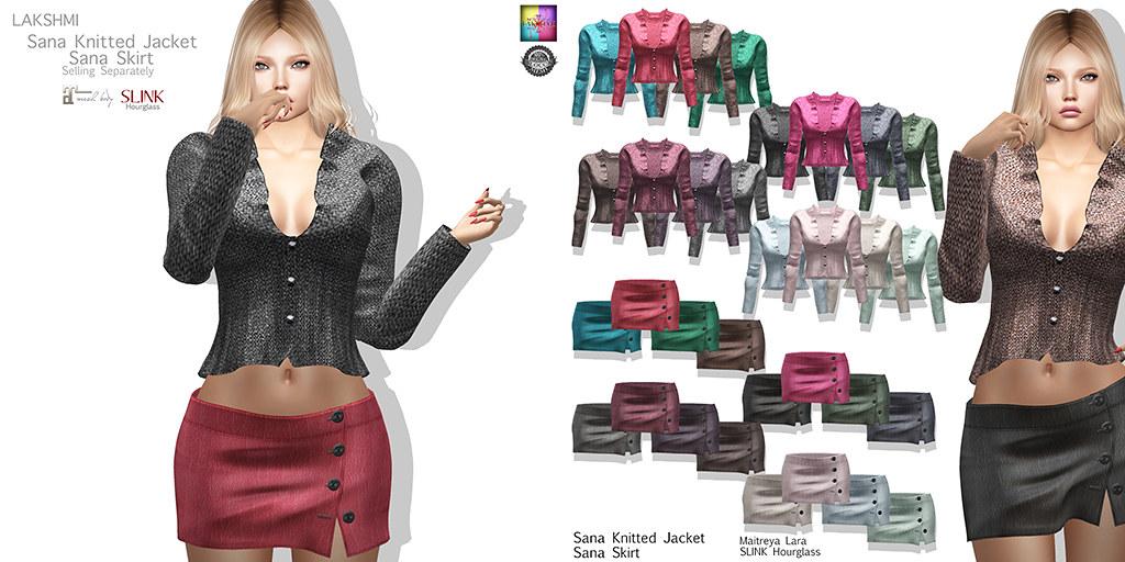 [LAKSHMI]Sana Knitted Jacket - Skirt - TeleportHub.com Live!