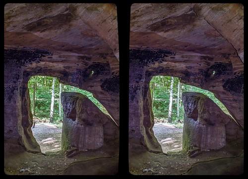 Daneilshöhle 3-D / CrossEye / Stereoscopy / HDR / Raw