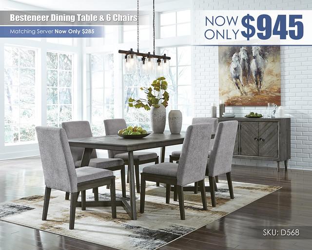 Besteneer Dining Set_D568-25-01(6)-60-R40092