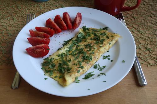 Käseomelett als Frühstück