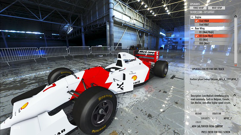 rFactor 2 McLaren MP4/8 Special Features