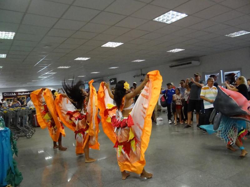 Aeroporto de Santarém inicia na 2ª recepção de passageiros com temática do Sairé, Crédito Divulgação Infraero_festival 2017.