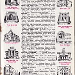 Mon, 2018-09-17 19:41 - A page from the 1947 guide 'London Life' showing the premier cinemas of the city's West End at that time. The vignettes showing the cinemas themsleves are interesting. Of those shown some have survived and some haven't. The Astoria; closed and demolished for the extension to the tube station at Tottenham Court Rd. Carlton; still in use as the Empire London Haymarket. Dominion; still in use as a theatre. Empire, Leicester Sq; still in use as Cineworld. Gaumont; still standing but used as a venue since closure in 1996. Leicester Sq Theatre; latterly the Odeon it closed as recently as 2015 and has sadly been demolished. London Pavilion; its use as a cinema started in 1934 and came to an end in 1986 when the complex was gutted leaving only the facade. Marble Arch Pavilion; opened in 1914 and closed in 1956, demolished. New Gallery; converted to cinema use in 1913 but struggled in post-war years and closed in 1953. New Victoria; built as a cinema and musical venue the New Vic ceased to be used as a cinema after 1975. Odeon, Leicester Sq; Opened in 1937 as the flagship of Oscar Deutsch's Odeon chain the cinema is still in use. Odeon Marble Arch; in use as a cinema from 1928 - 64, it was reconstructed in 1967 but closed and demolished in 2016. Plaza, Piccadilly; Opened in 1926 and altered in 1967 and 2004 with the original interior lost. Now the Apollo Multiplex. Ritz, Leicester Sq. Opened in 1937 and although altered on several occasions still operates as the Cineworld. Tivoli, Strand; opened in 1923 it was closed due to bomb damage from 1941 until 1943. Closed in 1956 and demolished for Peter Robinson's store. Warner Theatre; opened to show Warner Bros films in 1938 the site is still a Vue cinema but only the facade of the original cinema survives. All in all not a bad survival rate given the varying history of cinemas but then again most are in the real heart of London's entertainment land.