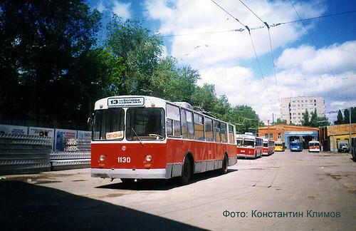 13 троллейбус в депо