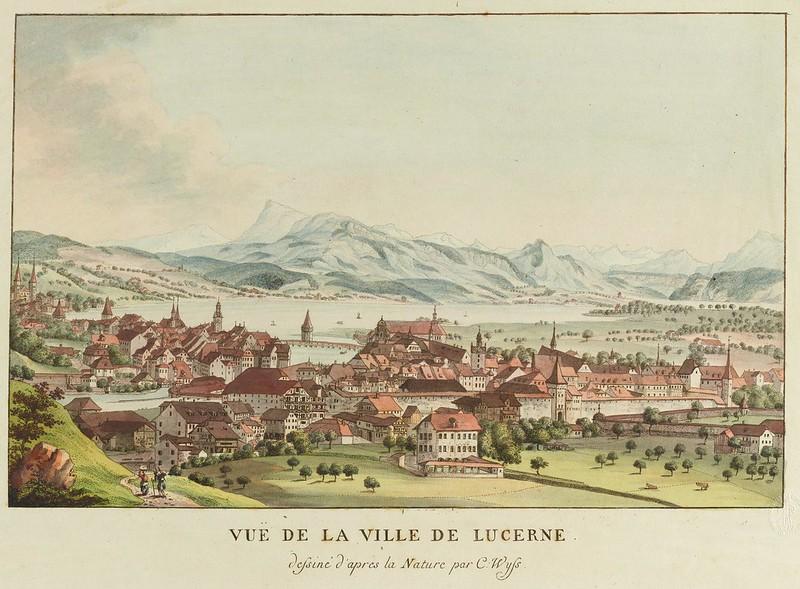 Caspar Leontius Wyss - Luzern, von Westen