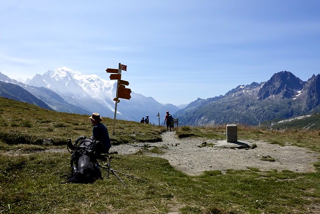 Col de Balme and the French-Swiss border