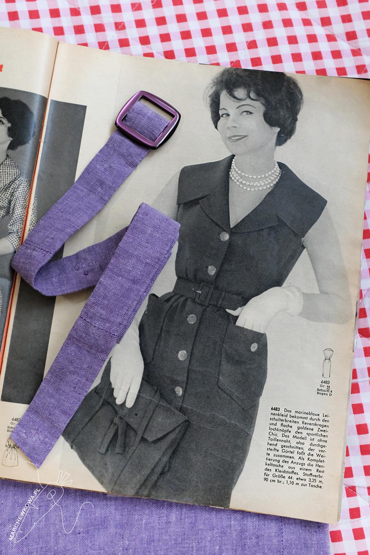 marchewkowa, blog, szycie, sewing, rękodzieło, handmade, moda, styl, vintage, retro, repro, 1960s, Wrocław szyje, w starym stylu, szmizjerka, ołówkowa, shirt dress, linen, len, lawendowy, lavender