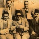 في الوسط المعلم ميخائيل البتانوني - المعلم صادق على اليمين - المعلم فهيم على اليسار