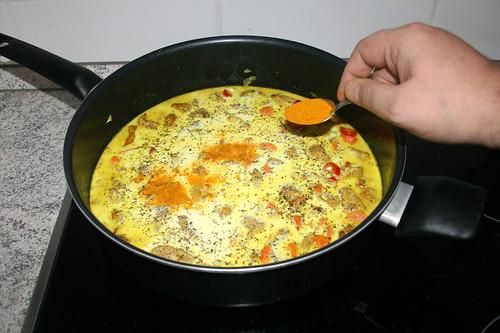 42 - Mit Salz, Pfeffer & Kurkuma würzen / Season with salt, pepper & turmeric