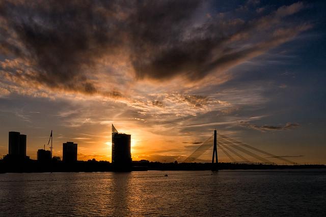 tramonto sulla Daugava, Panasonic DMC-G5, LUMIX G VARIO PZ 14-42/F3.5-5.6