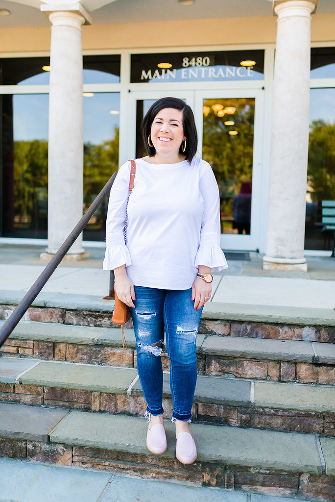 Wearing Leather Mules for Fall-@headtotoechic-Head to Toe Chic
