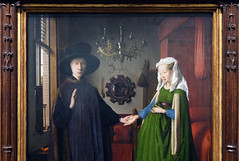 Jan Van Eyck, couple detail, The Arnolfini Portrait