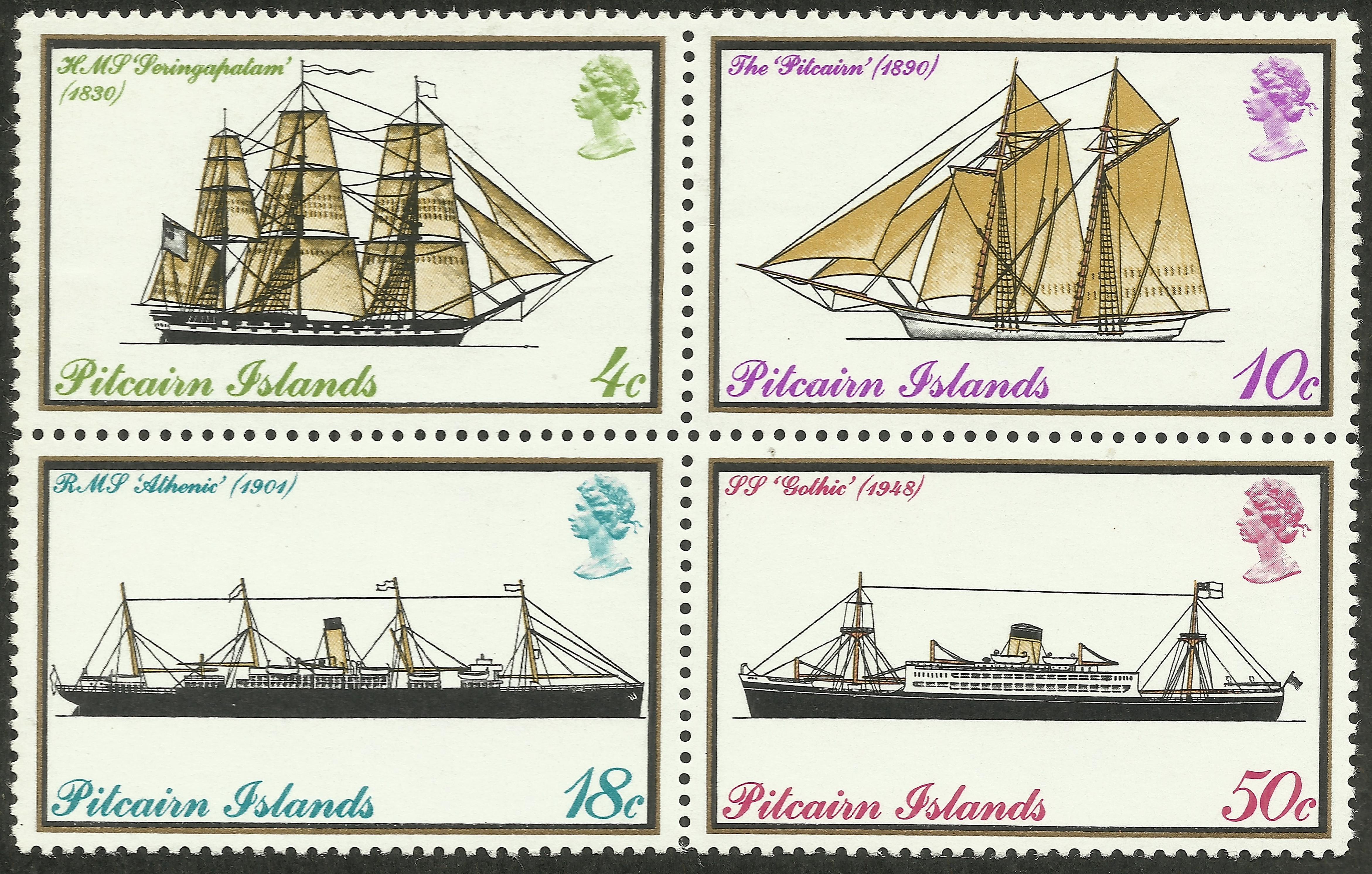 Pitcairn Islands - Scott #147-150 (1975)