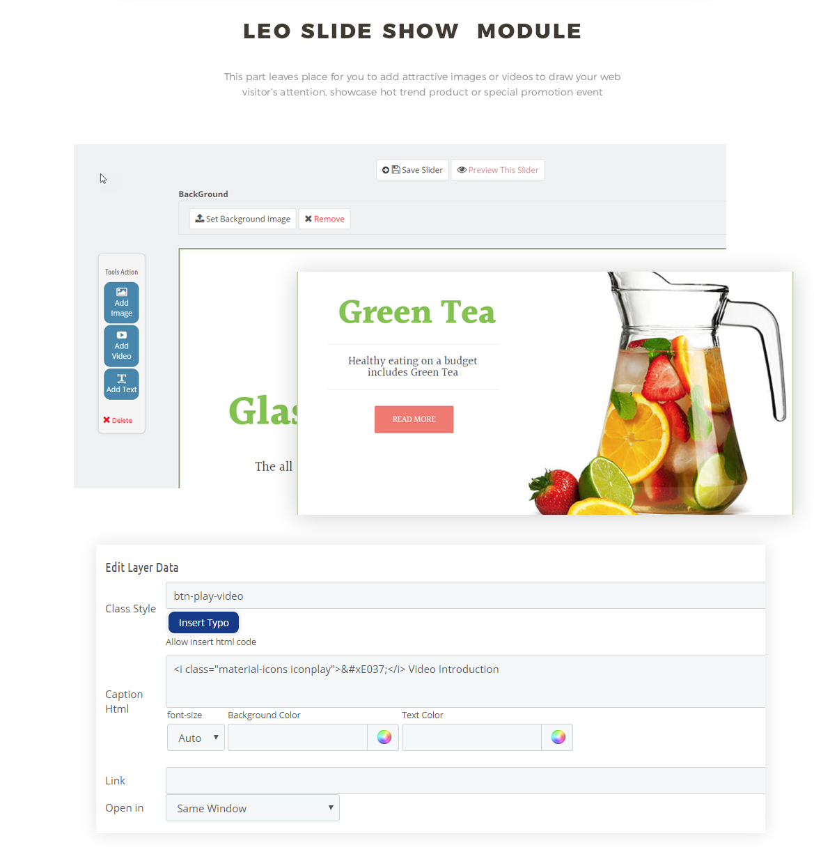 slideshow module - tea shop