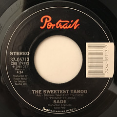 SADE:SWEETEST TABOO(LABEL SIDE-A)