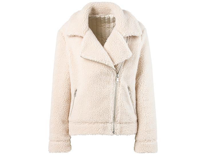 Witte aviator jas
