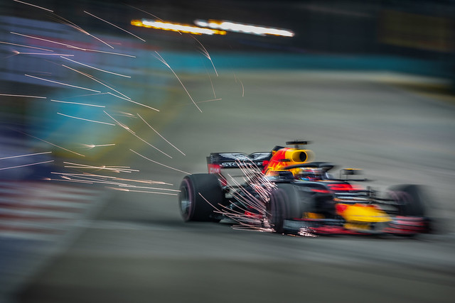 Sparks from F1 Red Bull Racing [Explore]