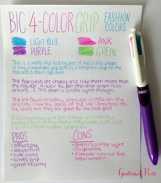 Bic 4 Color Fashion Ballpoint Pen 1