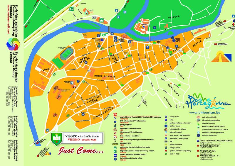 Туристическая карта Високо