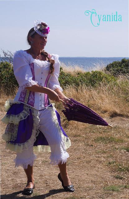 Steampunk Lady at the beach