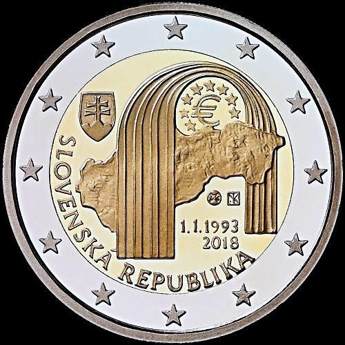 2 Euro Slovensko 2018, Vznik Slovenskej republiky