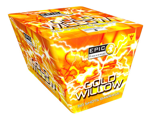 Gold Willow Fan Cake #EpicFireworks