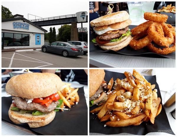 Olympus Burger collage