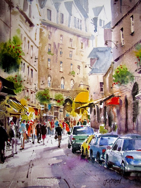 'Shoppers at St Malo Northern France' by J.K.Reed
