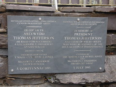 Photo of Thomas Jefferson slate plaque