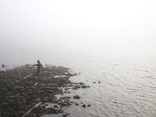Dancing in the fog.