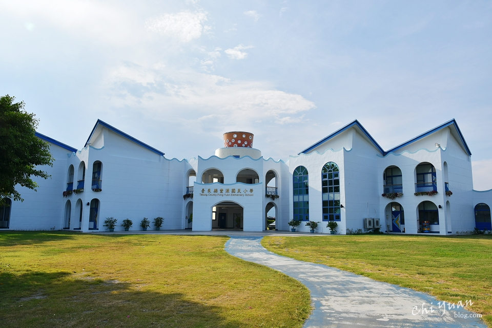 [台東]豐源國小。全臺最美小學,歐式藍白地中海風格的唯美校舍
