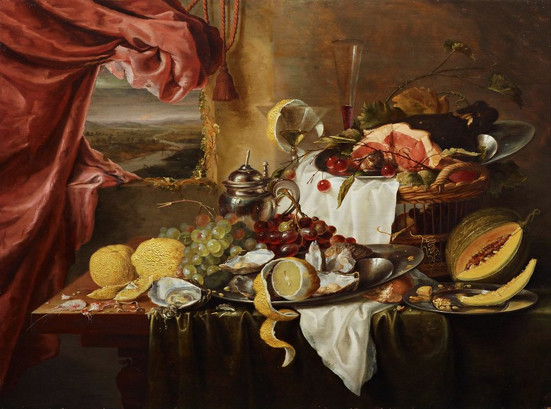 Laurens Craen - Still life with imaginary view (c.1645)