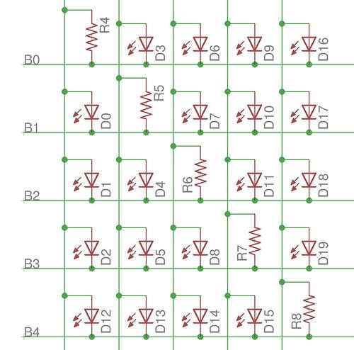 5 pin charlieplex matrix