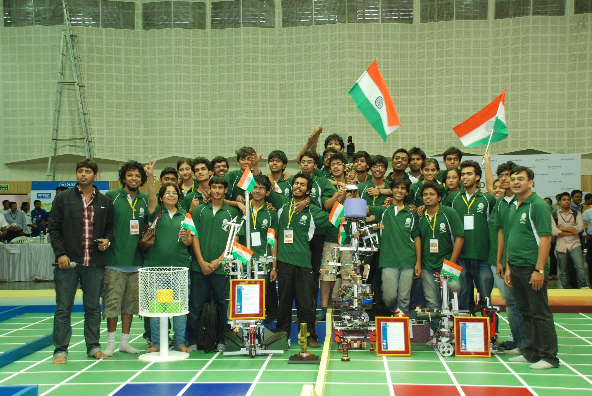 Robocon 2012 MIT Tech Team Pune: winning moment